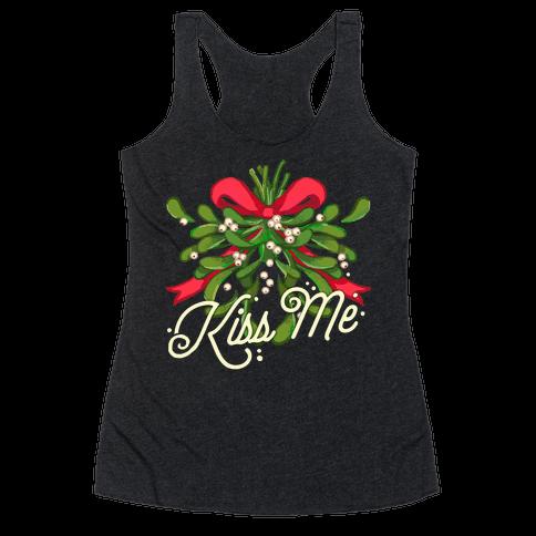 Mistletoe Kiss Me Racerback Tank Top