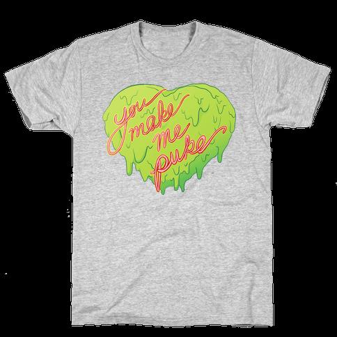 You Make Me Puke - Conversation Hearts Mens T-Shirt