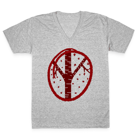 Red Tree V-Neck Tee Shirt