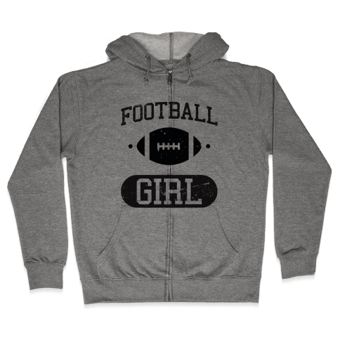 Football Girl Zip Hoodie