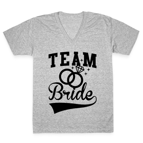 Team Bride V-Neck Tee Shirt