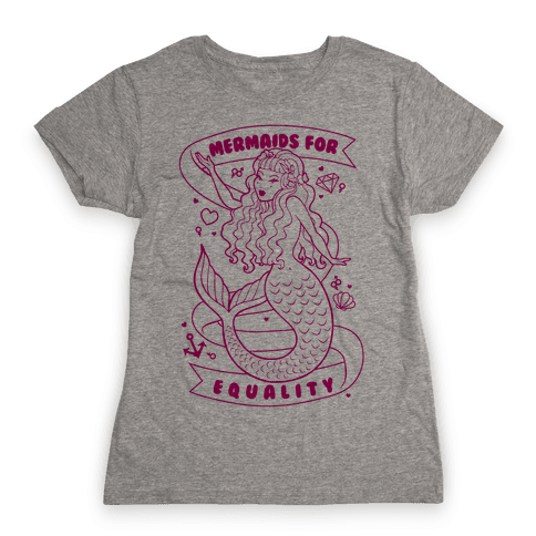 Mermaids For Equality Womens T-Shirt