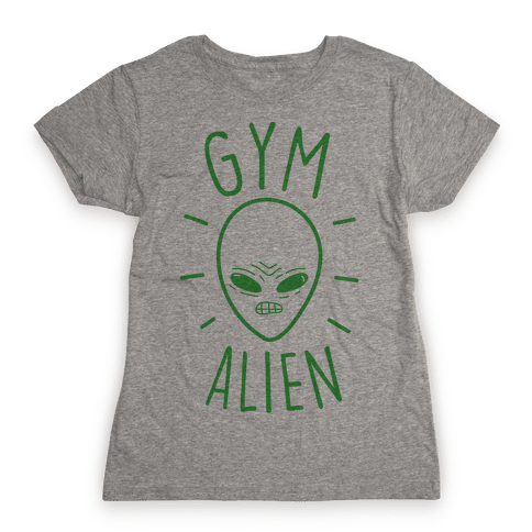 Gym Alien Womens T-Shirt