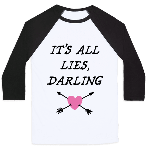 All Lies Baseball Tee