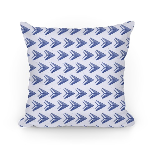 Navy Watercolor Arrow Pattern Pillow