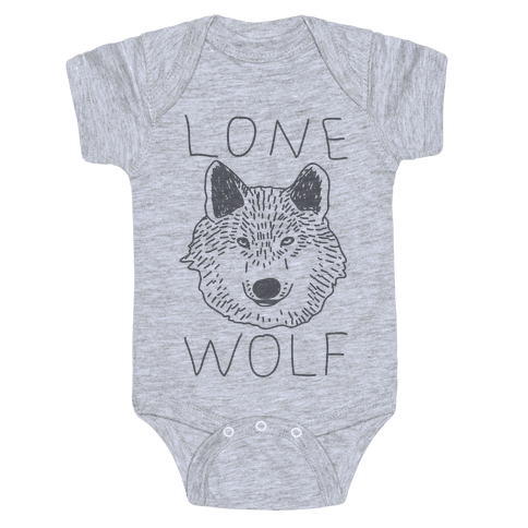 Lone Wolf Baby Onesy