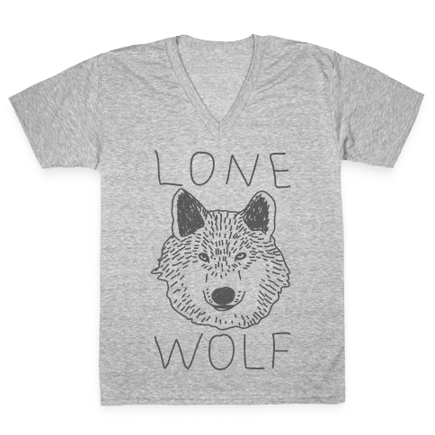 Lone Wolf V-Neck Tee Shirt