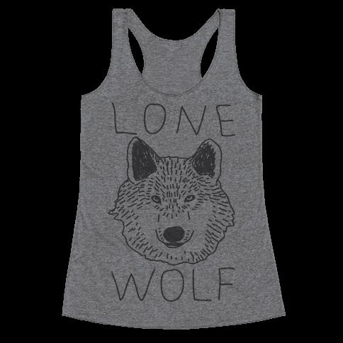 Lone Wolf Racerback Tank Top