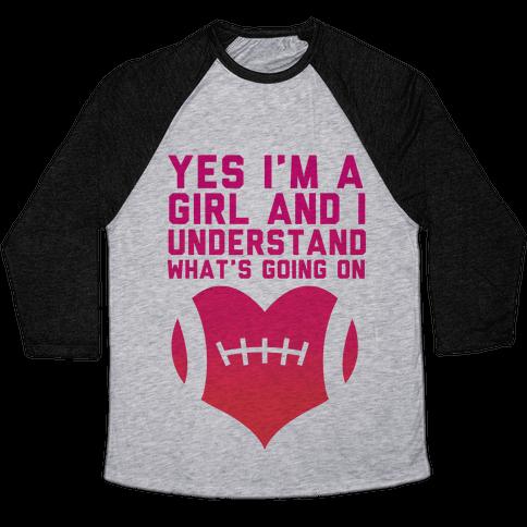 I Understand Football Baseball Tee