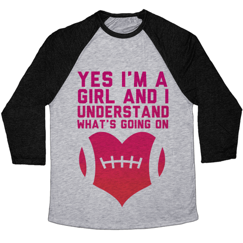 I Understand Football Baseball Tee