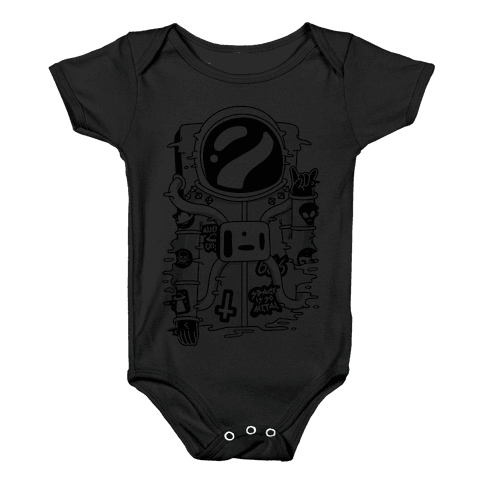 Space Is So Metal Baby Onesy