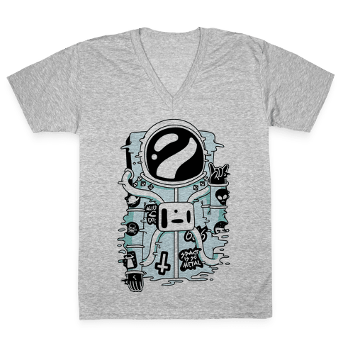 Space Is So Metal V-Neck Tee Shirt