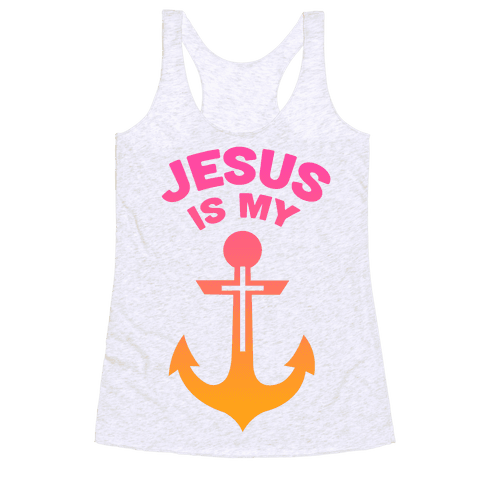 Jesus is My Anchor Racerback Tank Top