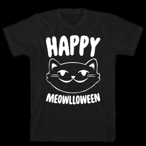 Happy Meowlloween Mens T-Shirt