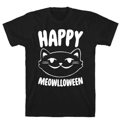 Happy Meowlloween Mens T-Shirt
