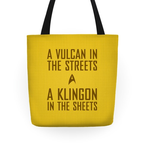 A Vulcan In the Streets (Yellow) Tote
