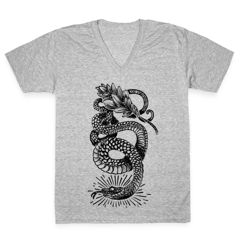 Laurel Snake V-Neck Tee Shirt