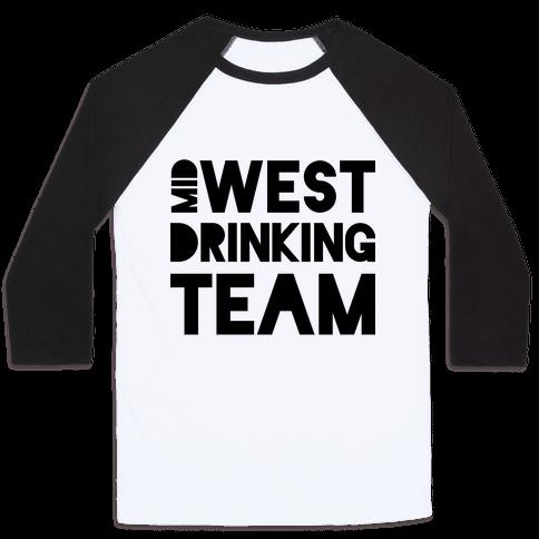 Midwest Drinking Team Baseball Tee