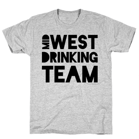Midwest Drinking Team Mens T-Shirt