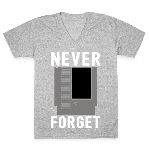 NES: Never Forget V-Neck Tee Shirt