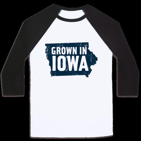 Grown in Iowa Baseball Tee