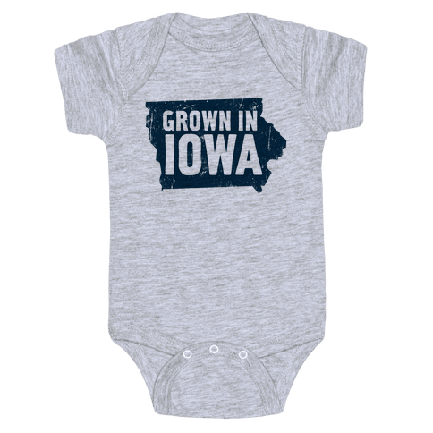 Grown in Iowa Baby Onesy