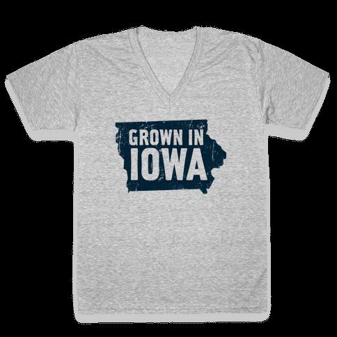 Grown in Iowa V-Neck Tee Shirt