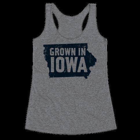 Grown in Iowa Racerback Tank Top