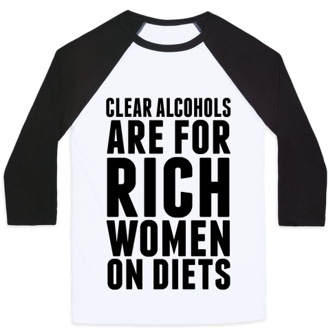 Clear Alcohol Baseball Tee