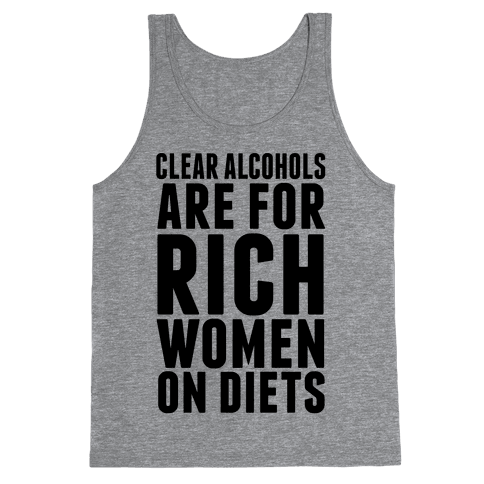 Clear Alcohol Tank Top