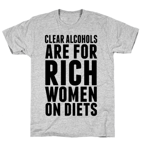 Clear Alcohol Mens T-Shirt