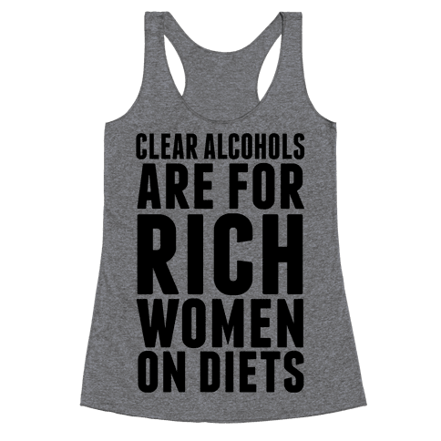 Clear Alcohol Racerback Tank Top