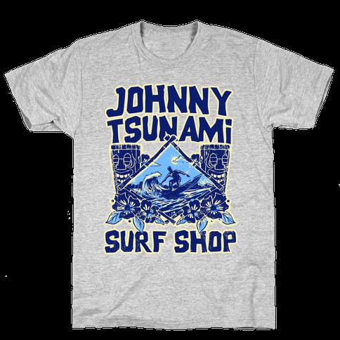 Johnny Tsunami Surf Shop Mens T-Shirt