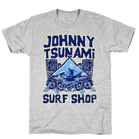 Johnny Tsunami Surf Shop Mens T-Shirt