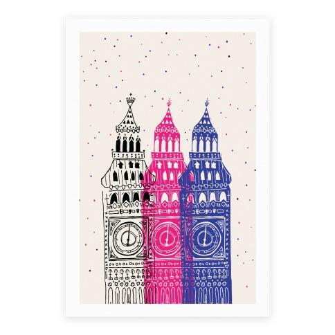 London's Big Bens Poster