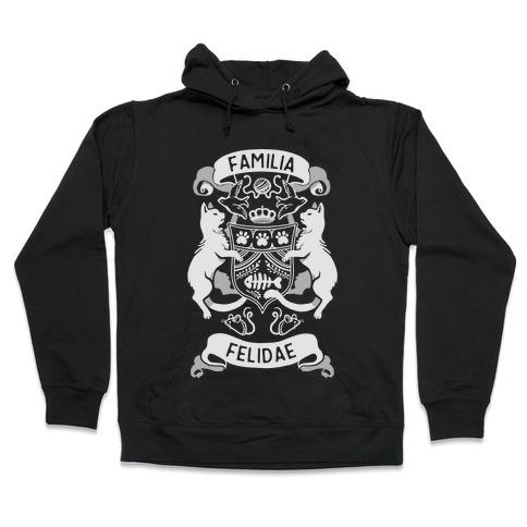 Cat Family Crest: Familia Felidae Hooded Sweatshirt