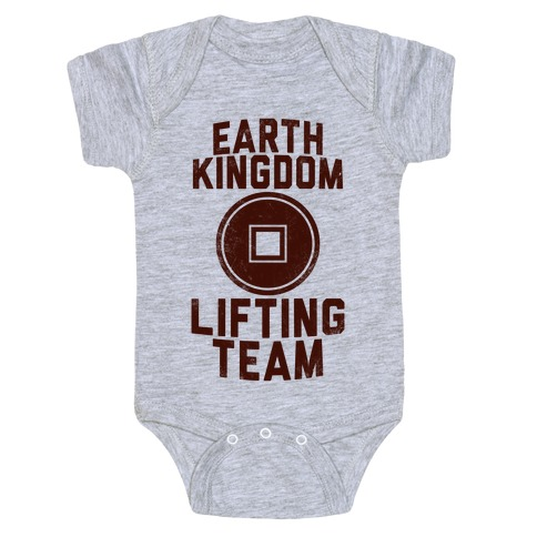 Earth Kingdom Lifting Team Baby Onesy