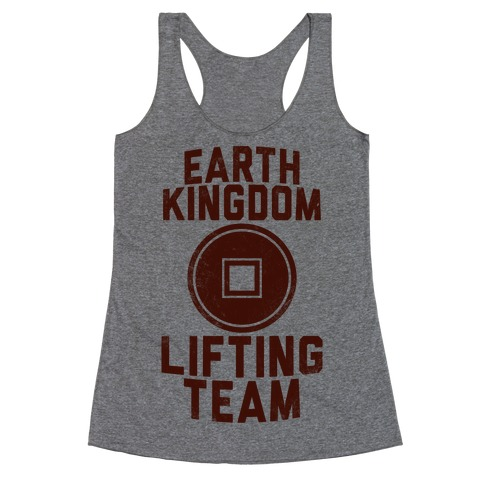 Earth Kingdom Lifting Team Racerback Tank Top