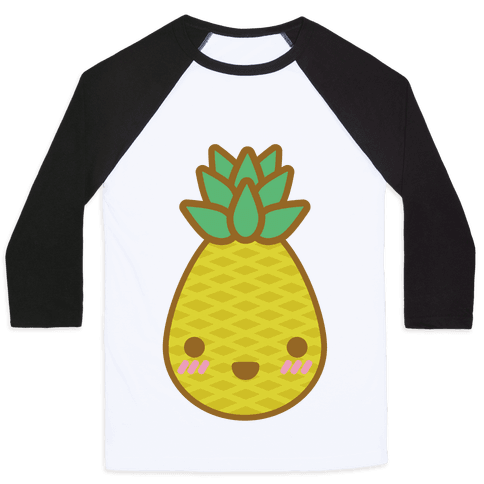 Kawaii Pineapple Baseball Tee