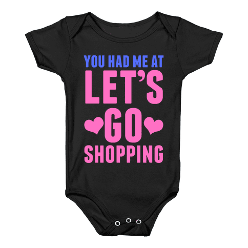 Let's Go Shopping Baby Onesy