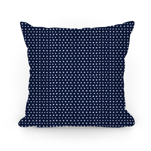 Navy Dot Pattern Pillow