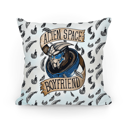 Alien Space Boyfriend Parody Pillow