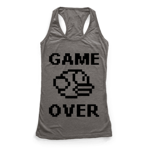 Game Over (Flappy Bird) Racerback Tank Top