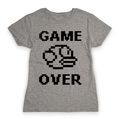 Game Over (Flappy Bird) Womens T-Shirt