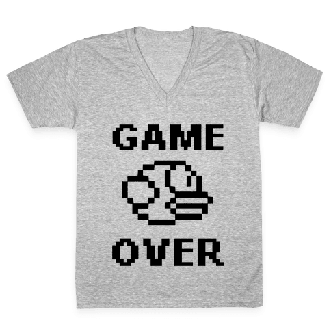 Game Over (Flappy Bird) V-Neck Tee Shirt