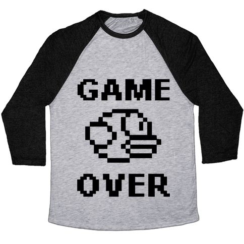Game Over (Flappy Bird) Baseball Tee