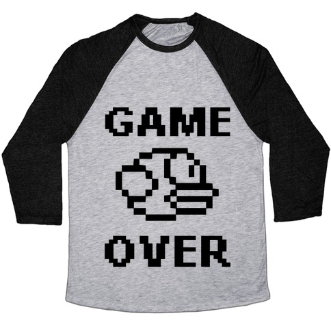 Game Over (Flappy Bird) Baseball Tee