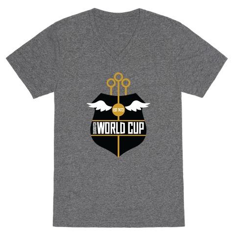 Quidditch World Cup V-Neck Tee Shirt
