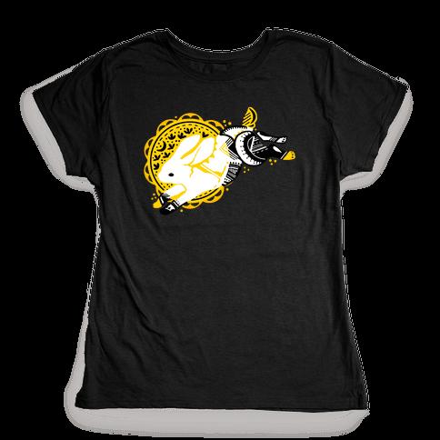 Tribal Rabbit Womens T-Shirt
