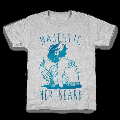 Majestic Mer-Beard Kids T-Shirt